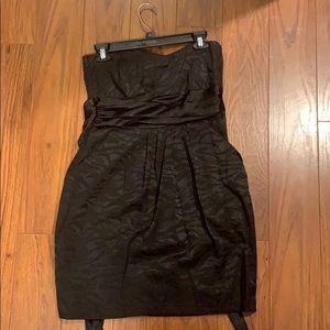 strapless , semi formal dress